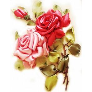 Розы Набор для вышивки картины лентами