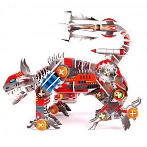 Buzzsaw Робот Атакующая рысь 3D Пазл Zilipoo