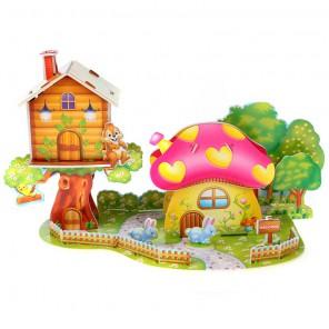 Грибной дом 3D Пазлы Zilipoo