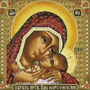 Икона Божией матери  Корсунская Алмазная вышивка мозаика на подрамнике Белоснежка
