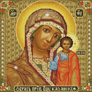 Икона Божией матери Казанская Алмазная вышивка мозаика на подрамнике Белоснежка