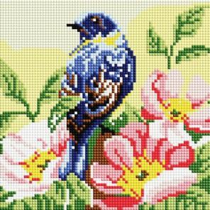 Птичка Алмазная вышивка мозаика на подрамнике Белоснежка