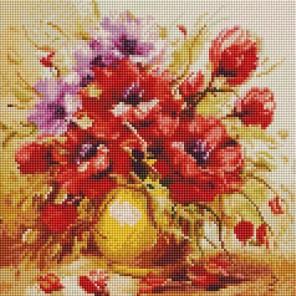 Садовый букет Алмазная вышивка мозаика на подрамнике Белоснежка
