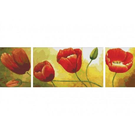 Цветение маков Набор для вышивания Белоснежка