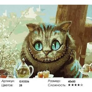 Чеширский кот Раскраска картина по номерам на холсте