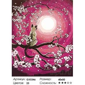 Количество цветов и сложность Магия луны Раскраска картина по номерам акриловыми красками на холсте