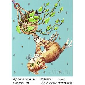 Количество цветов и сложность Зеленоглазая шалунья Раскраска картина по номерам акриловыми красками на холсте