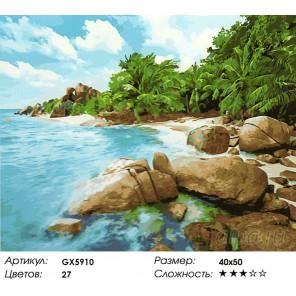 Ямайское побережье Раскраска картина по номерам на холсте