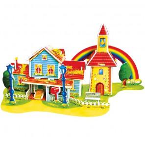 Радужный дом (мини серия) 3D Пазлы Zilipoo