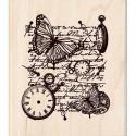 Время летит...  Штамп деревянный для скрапбукинга, кардмейкинга Inkadinkado