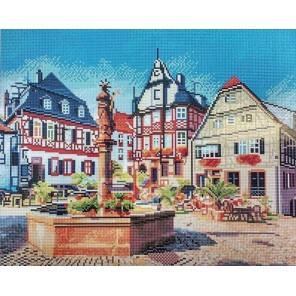 Рыночная площадь. Хеппенхайм Алмазная мозаика вышивка Painting Diamond