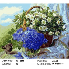 Подснежники Раскраска картина по номерам на холсте