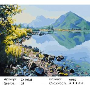 Количество цветов и сложность Озеро Лох-Ломонд Раскраска картина по номерам акриловыми красками на холсте