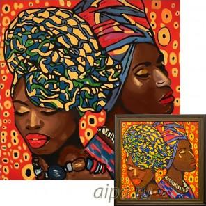 Крупный фрагмент Африканская мода Алмазная вышивка мозаика Гранни