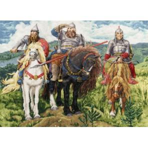 Три Богатыря Виктора Васнецова Набор для вышивания Золотое Руно