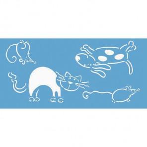 Кот и собака Трафарет пластиковый Marabu