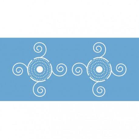 Кельтский бордюр Трафарет 15х33 см Marabu