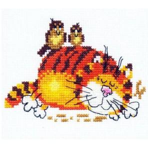 Ленивый кот Набор для вышивания Алиса