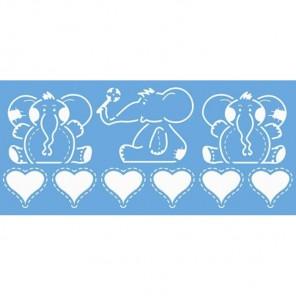 Слоники Трафарет пластиковый Marabu