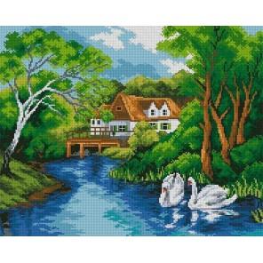 Лебединое озеро Алмазная мозаика вышивка Painting Diamond