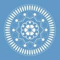 Цветок розетка Трафарет 33х33 см Marabu