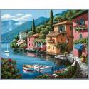 Городок Раскраска (картина) по номерам акриловыми красками Dimensions