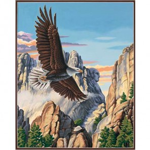 Парящий орёл 91301 Раскраска по номерам акриловыми красками Dimensions