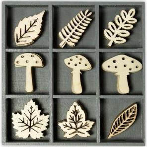 Грибы и листья Декоративные деревянные элементы cArt-Us