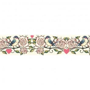 Птицы и розы Скотч декоративный для скрапбукинга Stamperia