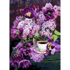 Утро в сирени Канва с рисунком для вышивки Матренин посад