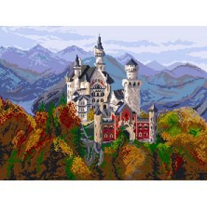 Замок в Баварии Канва с рисунком для вышивки Матренин посад