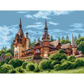 Замок в Румынии Канва с рисунком для вышивки Матренин посад