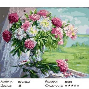 Утренние пионы Раскраска картина по номерам акриловыми красками на холсте