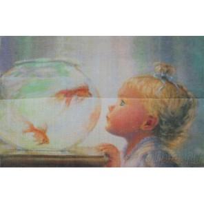 Набор для вышивания: Моя золотая рыбка, гладь