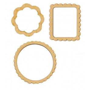 Рамки 3шт Заготовки для декорирования из МДФ Stamperia