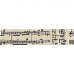 Ноты на состаренном фоне Декоративный полупрозрачный скотч Stamperia