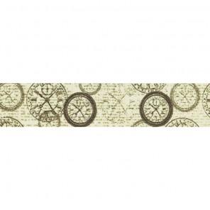 Часы на состаренном фоне Декоративный полупрозрачный скотч Stamperia