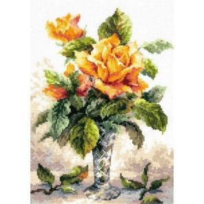 Желтые розы Набор для вышивания Чудесная игла
