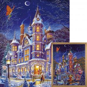 Зимняя Сказка Алмазная мозаика на подрамнике Цветной