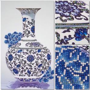 Ваза императора Алмазная мозаика на подрамнике Цветной