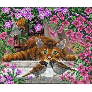 Искушение кота Василия Набор для частичной вышивки бисером Русская Искусница