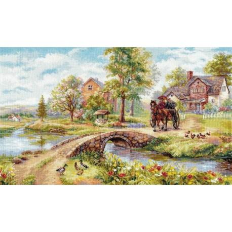 Воскресная прогулка Набор для вышивания Алиса