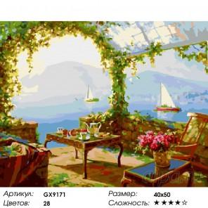 Количество цветов и сложность Утро в Соренто Раскраска картина по номерам акриловыми красками на холсте