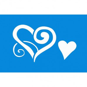 Два сердца Трафарет 10х15 см Marabu
