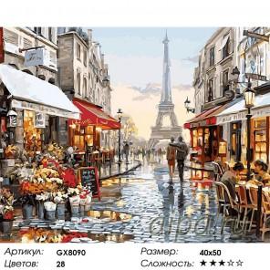 Парижское обещание (художник Ричард Макнейл) Раскраска картина по номерам на холсте