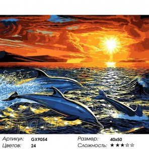 Мечта дельфина (художник Эндрю Анненберг) Раскраска картина по номерам на холсте