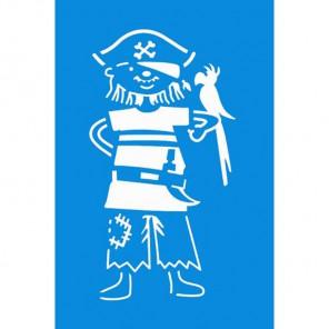 Пират с птицей Трафарет 10х15 см Marabu