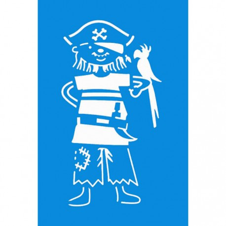 пират-птица Трафарет 10х15 см Marabu
