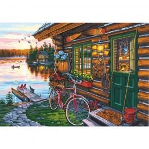 Вид на хижину (Даррелл Буш) Раскраска картина по номерам акриловыми красками Dimensions