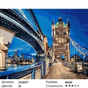 Ночной мост Раскраска картина по номерам на холсте